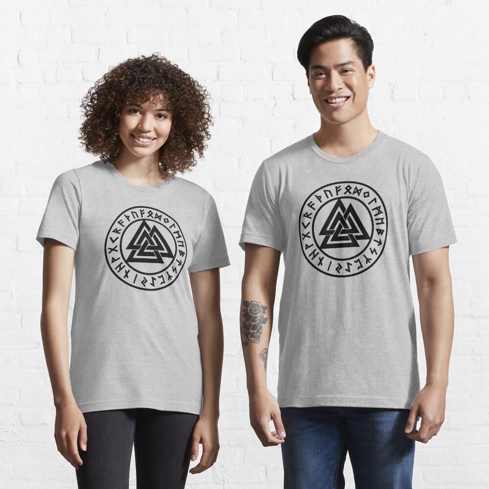 Valknut, Odin, Wotans Knot, Futhark Runes, Hrungnir heart Essential T-Shirt
