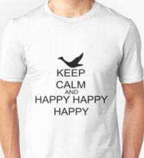 Keep Calm And Happy Happy Happy Unisex T-Shirt