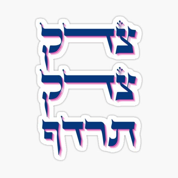 Tzedek, Tzedek Tirdof - Justice Shall You Pursue - Hebrew Torah Quote Sticker