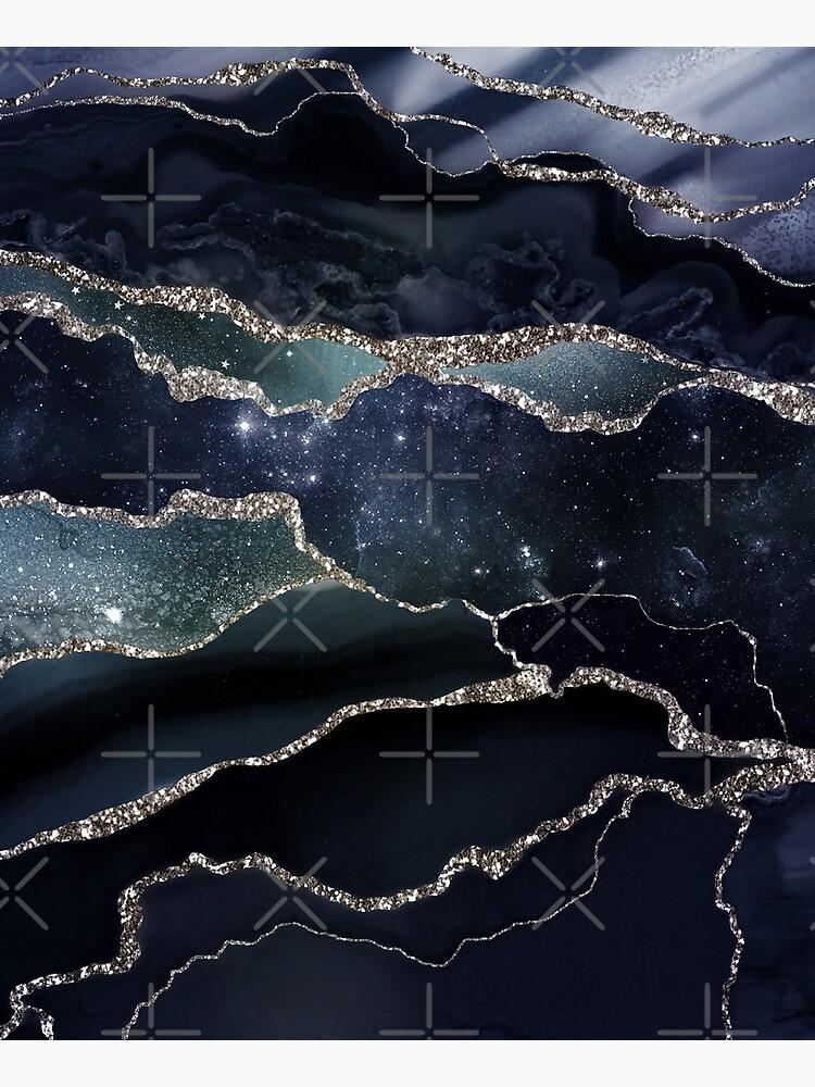 Glamour Night Black Milky Way Marble Galaxy I by MysticMarble