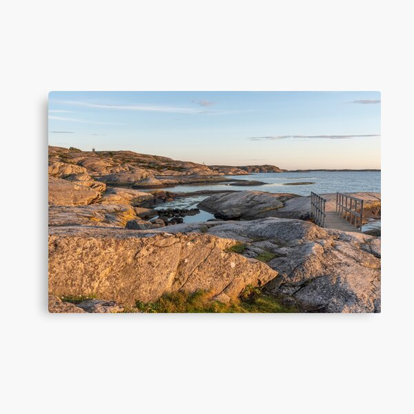 Summer evening by the sea Canvas Print