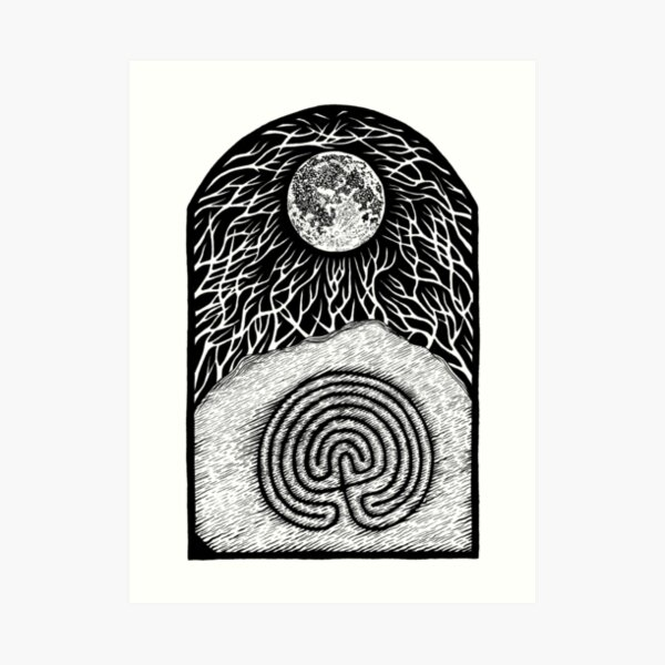 Troy Stone & Moon by Gemma Gary Art Print