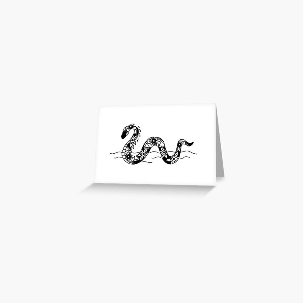 Nessie Mandala Greeting Card