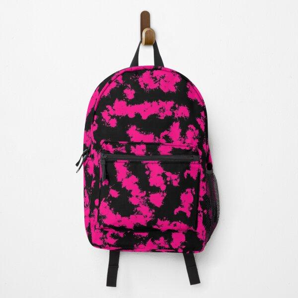 Pink Paint Splatter Pattern Backpack