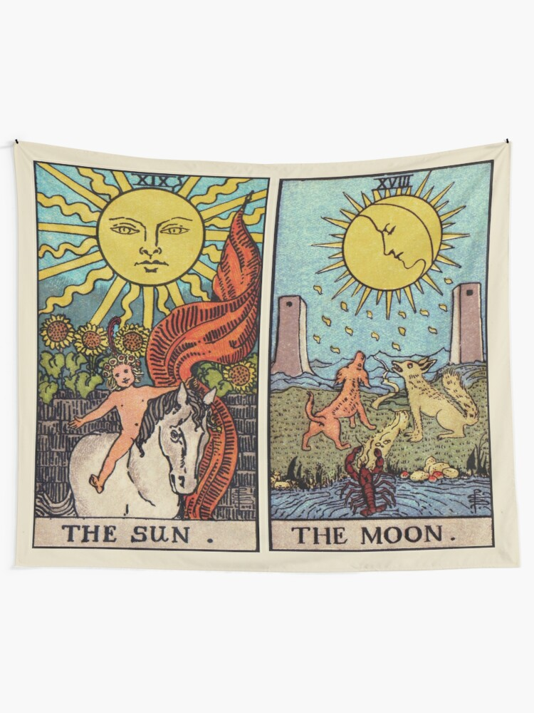 Alternate view of Moon & Sun Tarot | Colour Tapestry