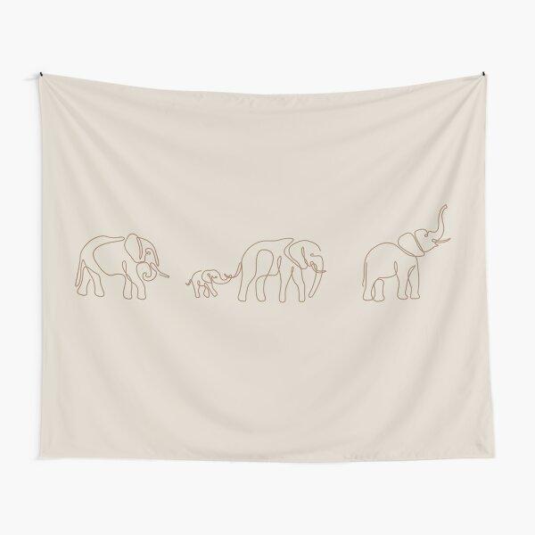 elephant (white/beige) Tapestry