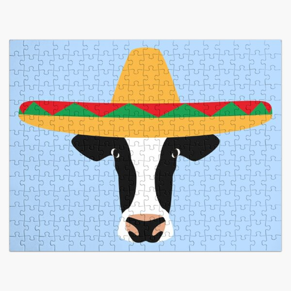 NDVH Cow Wearing a Sombrero Jigsaw Puzzle