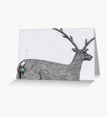 Reindeer balls Christmas card Greeting Card