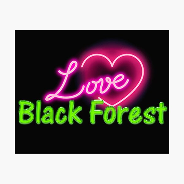 Black Forest Neon 1.0 Fotodruck