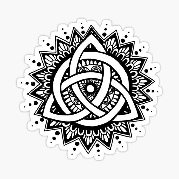 Trinity Knot Mandala Sticker