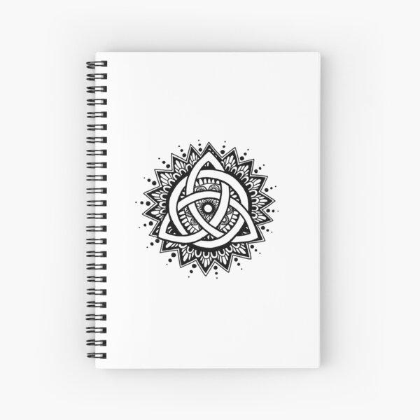 Trinity Knot Mandala Spiral Notebook