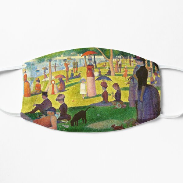 A Sunday Afternoon on the Island of La Grande Jatte - Georges Seurat Flat Mask