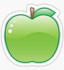Shiny green apple Sticker