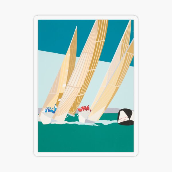 Sailing Admiral's Cup vintage poster Transparent Sticker