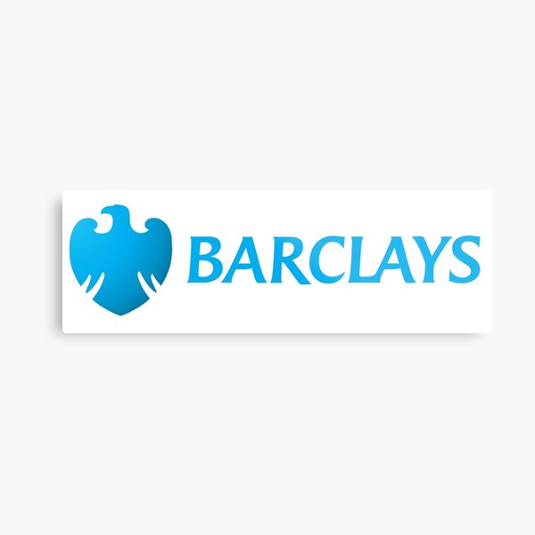 Barclays logo Metal Print