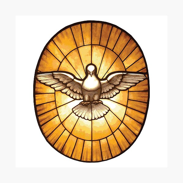 Holy Spirit Dove from St. Peter's Basilica Photographic Print