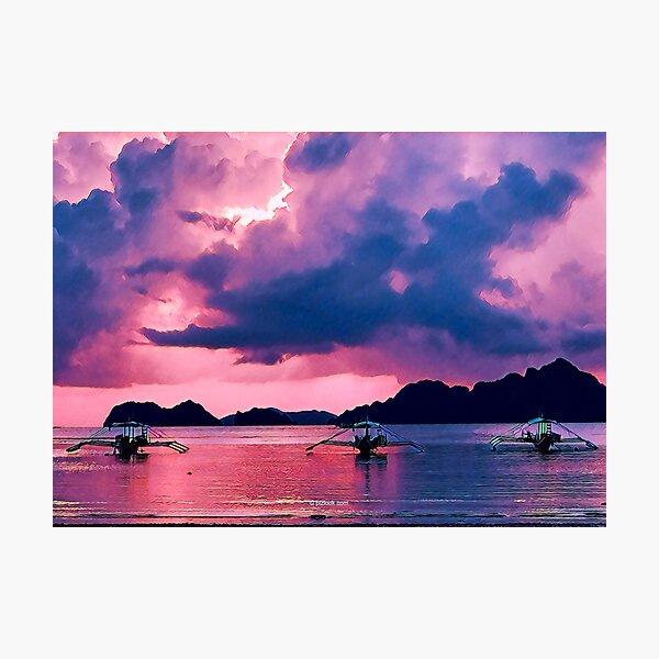 El Nido Sunset, Philippines - Fine Art Collection Photographic Print