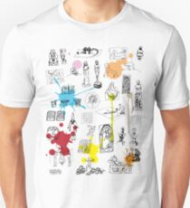 History of Art (w/ paint splashes) Unisex T-Shirt
