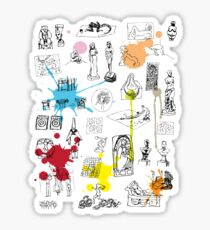 History of Art (w/ paint splashes) Sticker