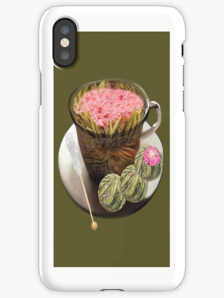 。◕‿◕。 ORGANIC FLOWERING TEA IPHONE CASE 。◕‿◕。  by ✿✿ Bonita ✿✿ ђєℓℓσ