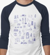 History of Art (blue artlines) Men's Baseball ¾ T-Shirt