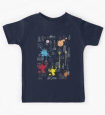 History of Art (dark tee, w/ paint splashes) Kids Tee