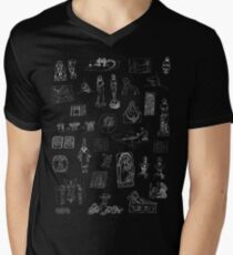 History of Art (dark tee) Mens V-Neck T-Shirt