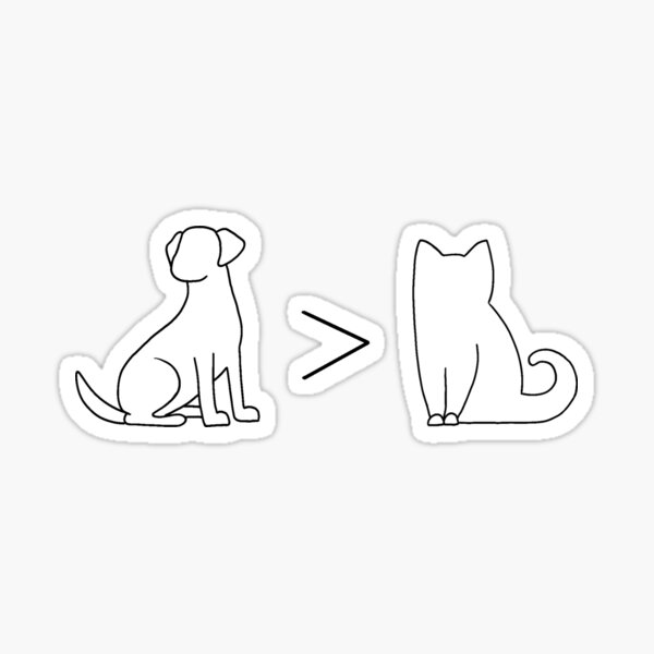 Dog vs Cat Sticker