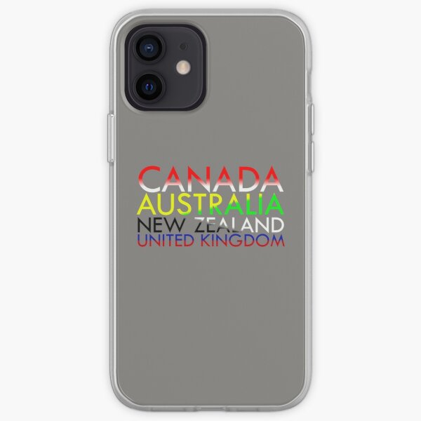 CANZUK: Countries with National Colours iPhone Soft Case