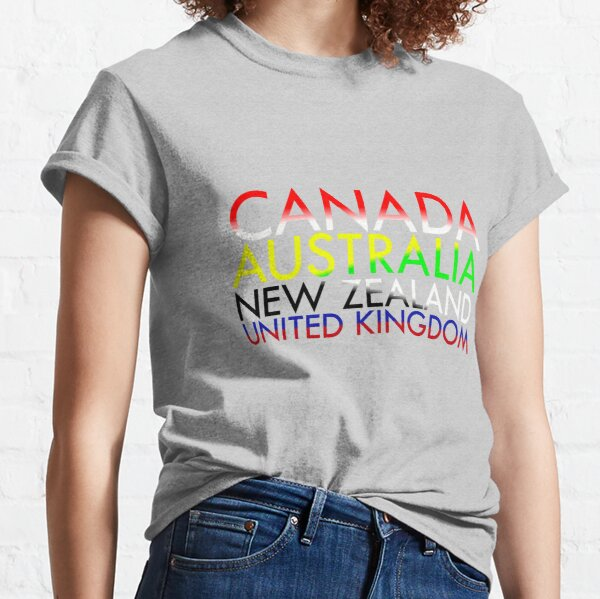 CANZUK: Countries with National Colours Classic T-Shirt