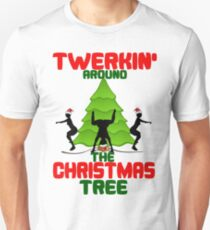 Twerk'n around the Christmas tree Unisex T-Shirt