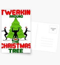 Twerk'n around the Christmas tree Postcards