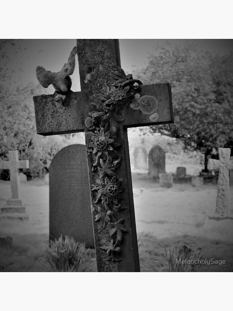 Cross Gravestone in Churchyard by MelancholySage