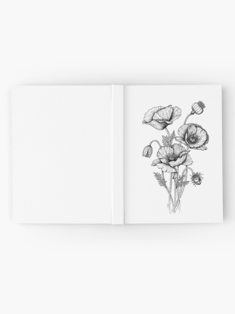 Alternate view of Poppies Hardcover Journal