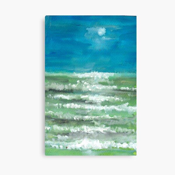 Again The Sea Canvas Print