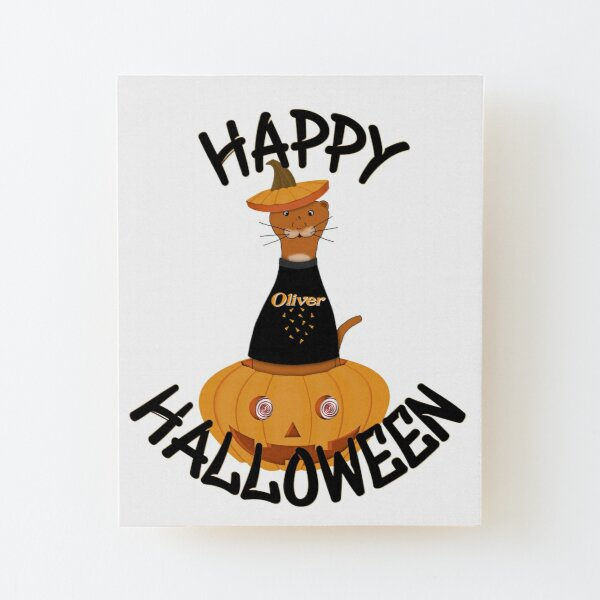 Happy Halloween Oliver! Wood Mounted Print