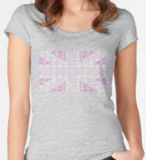 Bike Flag United Kingdom (Pink - Small) Women's Fitted Scoop T-Shirt