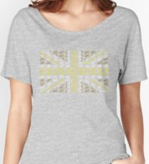 Bike Flag United Kingdom (Gold - Small) Women's Relaxed Fit T-Shirt