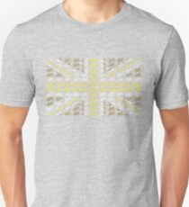 Bike Flag United Kingdom (Gold - Small) T-Shirt