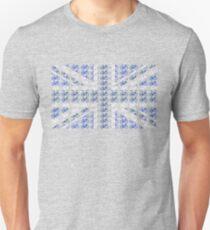 Bike Flag United Kingdom (Blue - Small) Unisex T-Shirt