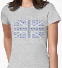 Bike Flag United Kingdom (Blue - Small) Women's Fitted T-Shirt