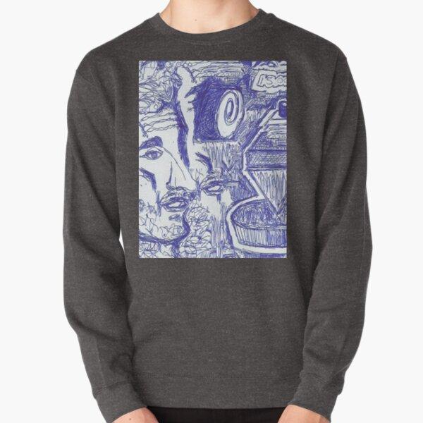 Abstract blue pen Pullover Sweatshirt