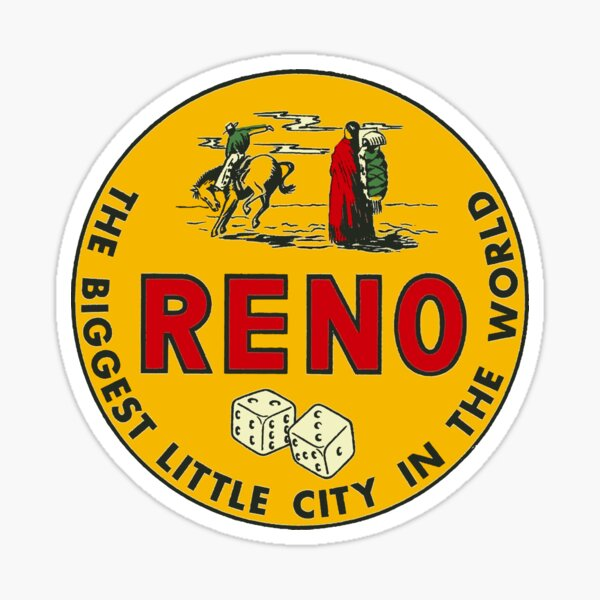 Vintage Reno Decal Sticker