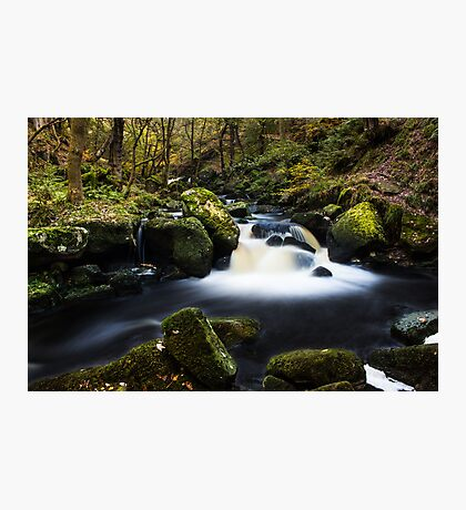 Fall on Burbage Brook Photographic Print