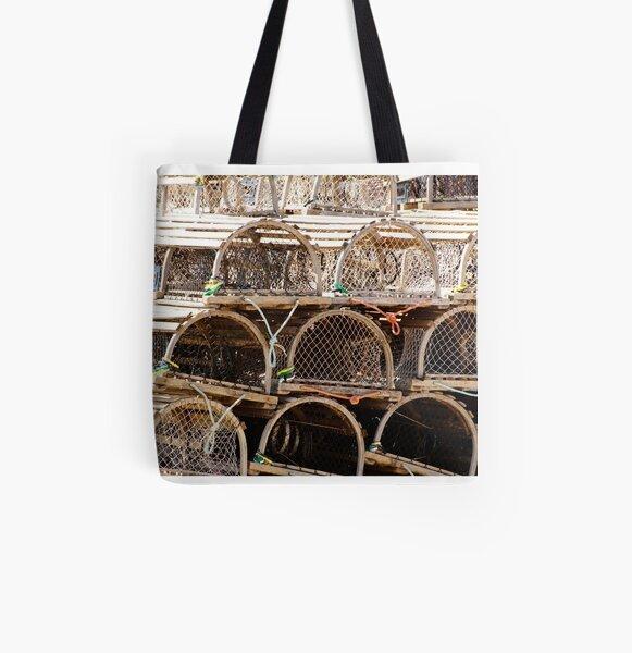 Lobster Pot Art All Over Print Tote Bag