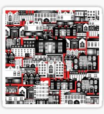SPLASHYARTYSTORY - ALL ABOUT BUILDINGS red Sticker