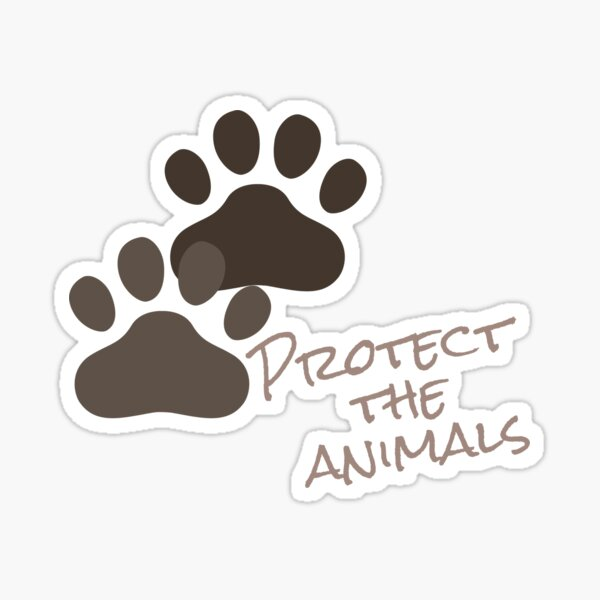 Protect the animals Sticker