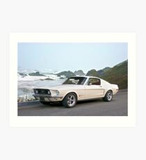 1968 Ford Mustang Fastback Art Print
