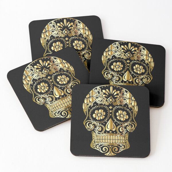 Mexican skull Coasters (Set of 4)