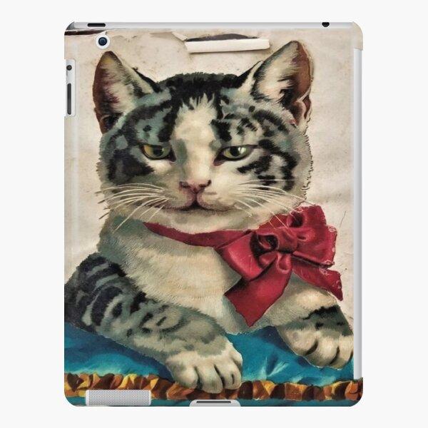 Cool Elegant Kitten Black Gray Cat  iPad Snap Case